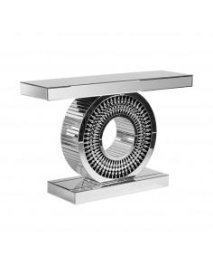Consola de diseño moderno con pata en círculo con espejos