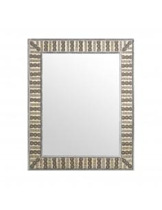 Espejo DELHI de estilo vintage con detalles brillantes en su marco