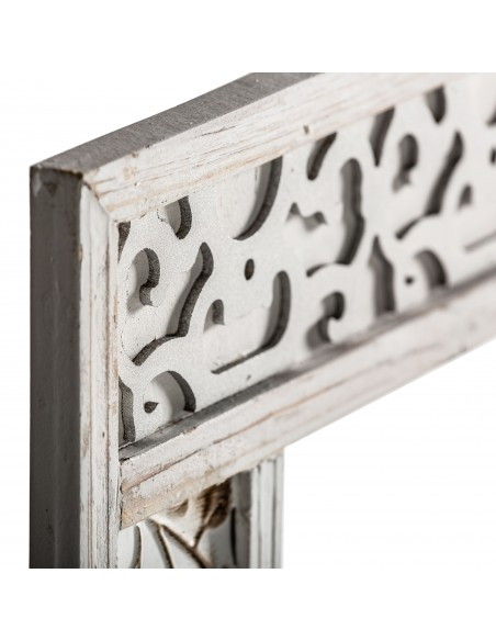 Espejo CASABLANCA con marco de dibujos grabados lacado