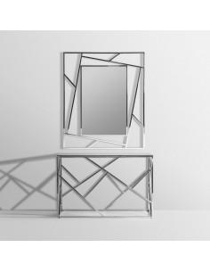 Conjunto consola de entrada y espejo MANHATTAN