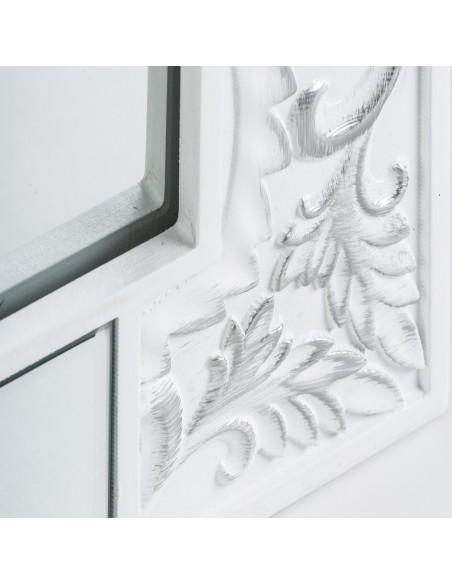 Espejo Texturas rectangular de diseño lacado en blanco