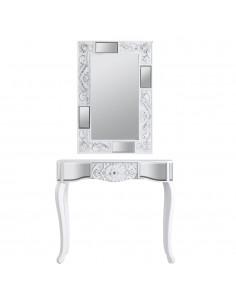 Conjunto de consola Reflejos y espejo Texturas blancos estilo moderno