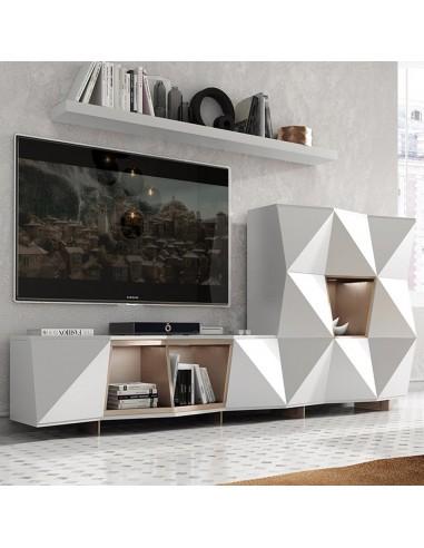 Mueble de salón de chapa de roble moderno   Franco Furniture P03