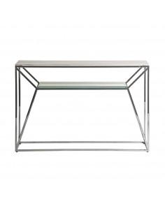 Consola Altiplano con tablero de cristal efecto mármol