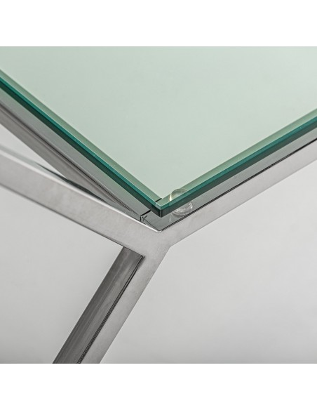 Consola Altiplano con tablero de cristal efecto marmol