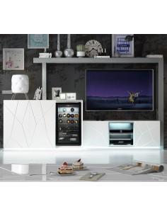 Salón Avanty EX03 Franco Furniture con vinoteca