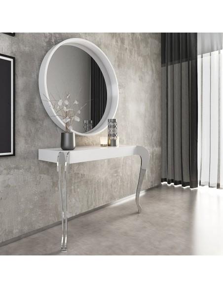 Conjunto consola PR44 DOBLE PLETINA con espejo Franco Furniture