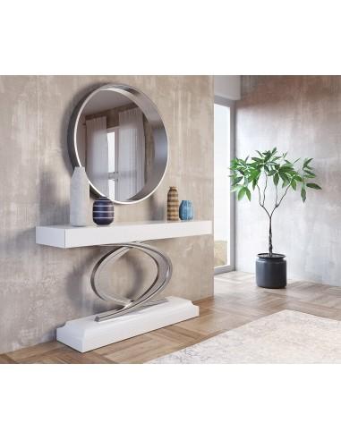 Conjunto de consola LAUMENOTTI y espejo Franco Furniture