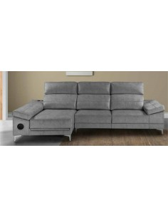 Sofá Chaise longue Nube con brazos y asientos deslizantes convertible en cama