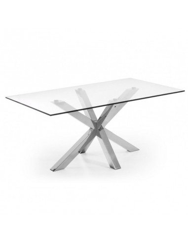 Mesa rectangular de cristal...
