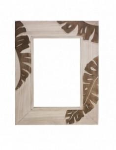 Espejo de pared HOJAS con original marco decorado