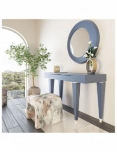 Tocador de maquillaje NB04 de estilo moderno-contemporáneo Franco Furniture