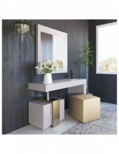 Tocador de maquillaje NB05 de estilo moderno-contemporáneo Franco Furniture