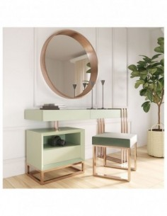 Tocador de maquillaje NB06 de estilo moderno-contemporáneo Franco Furniture