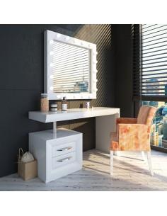 Tocador de maquillaje NB07 de estilo retro-moderno Franco Furniture