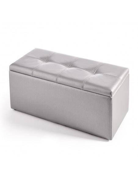 Baúl banqueta gris plata personalizable