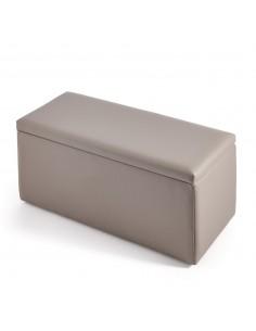 Baúl banqueta liso personalizable con arcón de almacenamiento