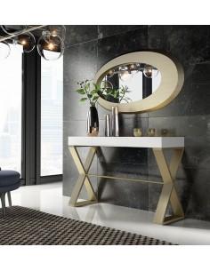 Consola de entrada PR36 con espejo en promoción Franco Furniture