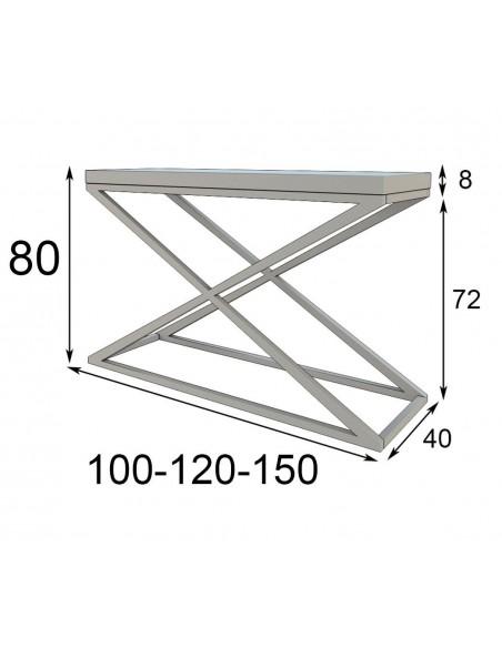 medidas consola de entrada PR37 Franco Furniture
