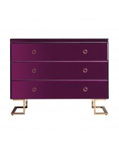 Cómoda Purple Fussion en color púrpura y cobre con patas en C