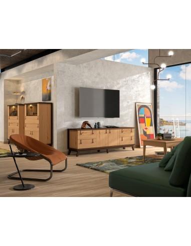 Mueble TV Sajonia SC006 de estilo rústico oriental de Divogue