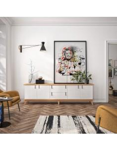 Mueble TV 05C de estilo nórdico-oriental de Divogue
