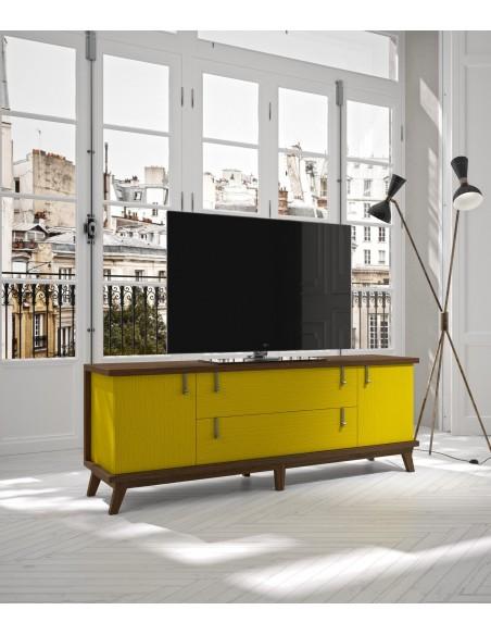 Mueble TV 07C amarillo de estilo nórdico-oriental de Divogue