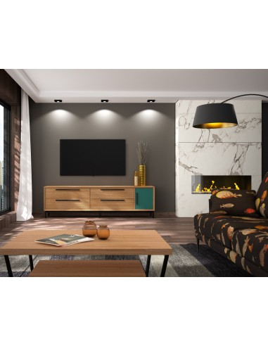 Mueble TV 15C de estilo nórdico-industrial de Divogue