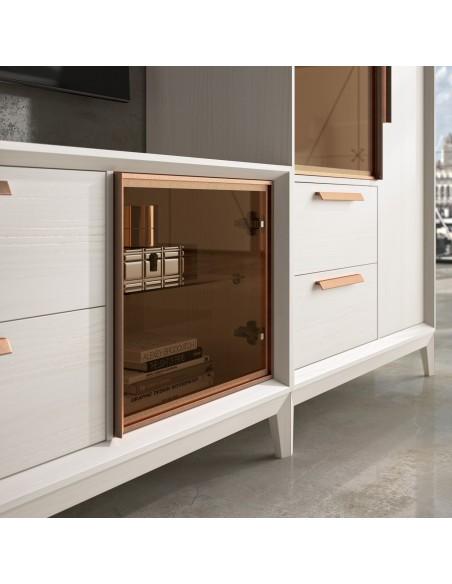 Mueble de salón blanco 20C de estilo nórdico-industrial de Divogue
