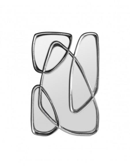 Espejo Abstracto Plata