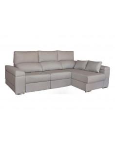 Sofá chaise longue con asientos de función cama
