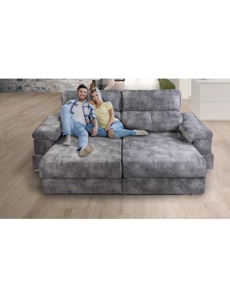 Sofá Transformert con arcón, brazo mesa y asientos cama