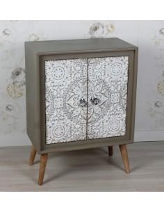 Cómoda 2 Puertas de diseño Vintage de 60x33x8 cm