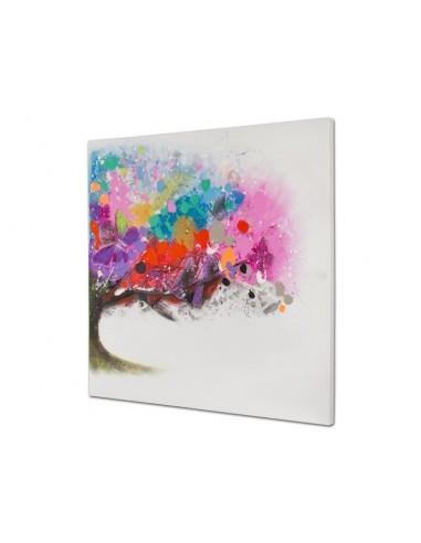 Cuadro óleo árbol colores -...