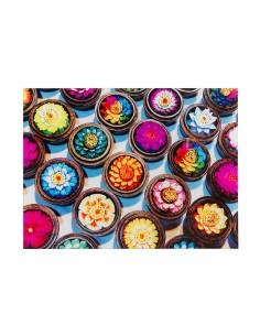 Cuadro flores colores -...