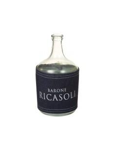 Jarrón botella transparente...