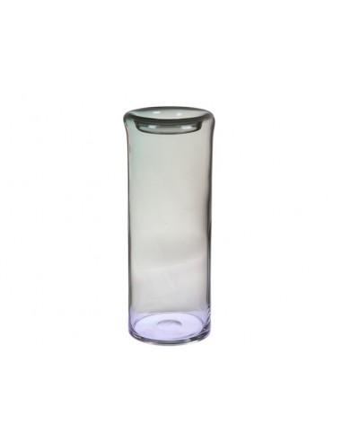 Jarrón de cristal gris -...