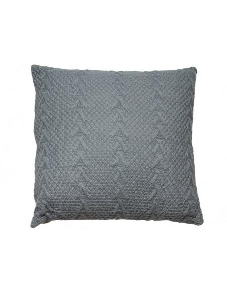 Cojín de punto color gris - Ref.45121