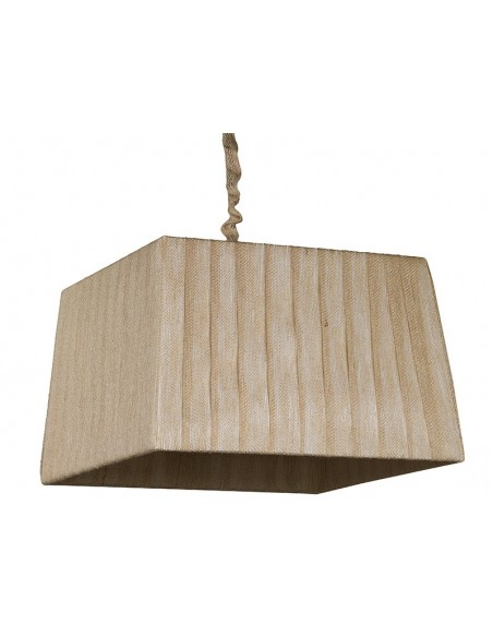 Lámpara  pirámide yute oscuro - Ref.47333