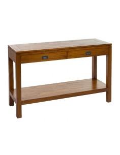 Consola 2 cajones madera -...