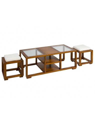 Mesa centro + 2 taburetes -...