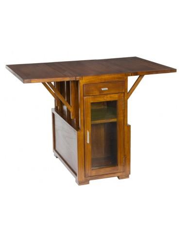 Mesa plegable con puerta -...