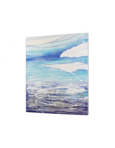Cuadro abstracto azul -...