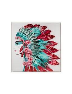 Cuadro plumas india -...