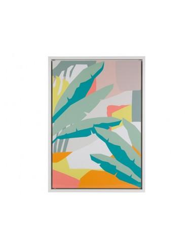 Cuadro hojas abstracto -...
