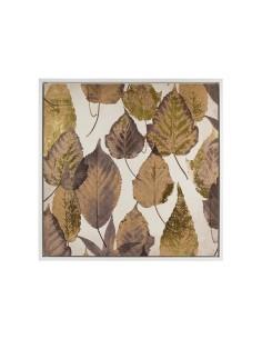 Cuadro hojas marrón -...