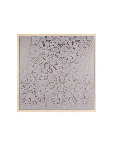 Cuadro hojas gris - Ref.16454