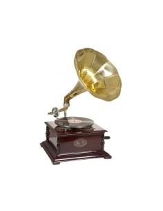 Gramófono cuadrado latón -...