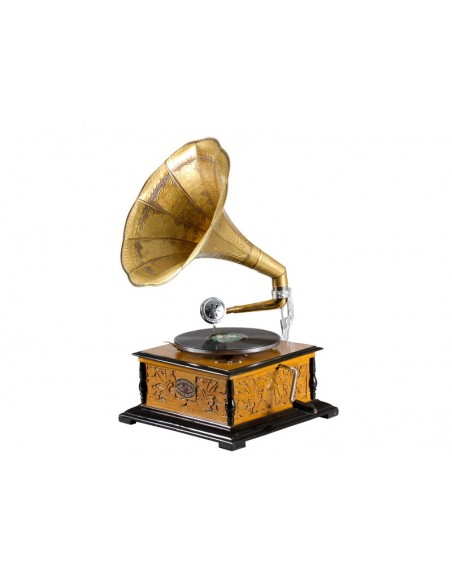 Gramófono cuadrado con grabado - Ref.17222