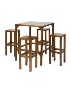 Mesa alta con 4 taburetes -...